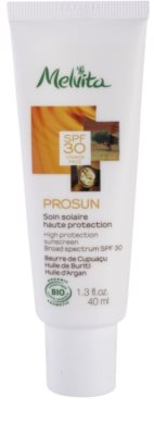 Melvita Prosun schützende Gesichtscreme mit Mineralien SPF 30