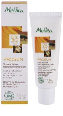 Melvita Prosun schützende Gesichtscreme mit Mineralien SPF 30 1