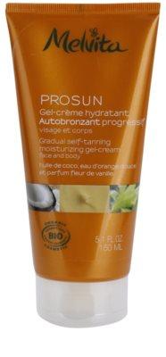 Melvita Prosun gel cremoso autobronzeador para rosto e corpo