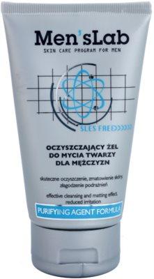 Men's Lab Purifying Agent Formula gel de curatare pentru a improspata porii si pielea cu aspect obosit