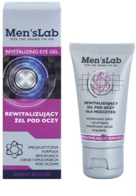 Men's Lab Revitalizing Agent Formula gel de contorno de olhos contra olheiras e inchaços 1