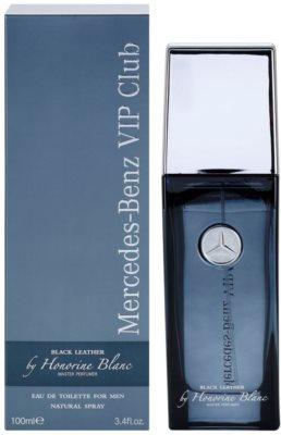 Mercedes-Benz VIP Club Black Leather eau de toilette para hombre