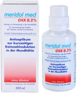 Meridol Med enjuague bucal antiséptico  sin alcohol 1