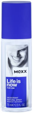 Mexx Life is Now for Him deodorant s rozprašovačem pro muže