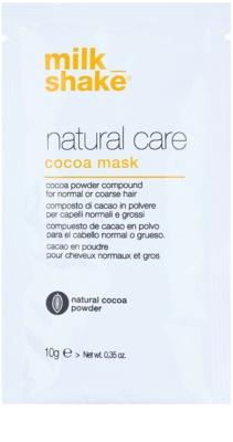 Milk Shake Natural Care Cocoa máscara regeneradora para cabelo com chocolate