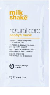 Milk Shake Natural Care Papaya máscara regeneradora para cabelo com papaia
