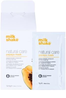 Milk Shake Natural Care Papaya máscara regeneradora para cabelo com papaia 1