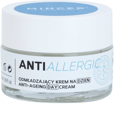 Mincer Pharma AntiAllergic N° 1100 fiatalító nappali krém az érzékeny arcbőrre