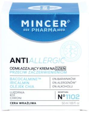 Mincer Pharma AntiAllergic N° 1100 fiatalító nappali krém az érzékeny arcbőrre 2