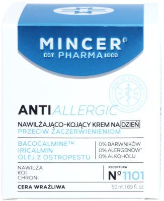 Mincer Pharma AntiAllergic N° 1100 pomirjajoča dnevna krema proti rdečici z vlažilnim učinkom 2