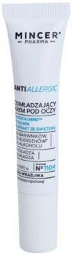 Mincer Pharma AntiAllergic N° 1100 крем за околоочния контур против бръчки за чувствителна и зачервена кожа