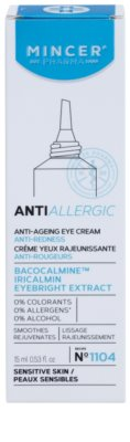 Mincer Pharma AntiAllergic N° 1100 creme de olhos antirrugas para pele sensível e com vermelhidão 2