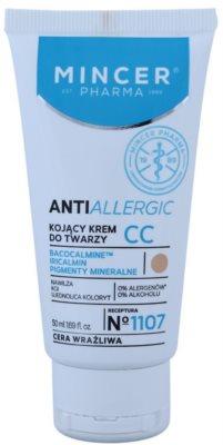 Mincer Pharma AntiAllergic N° 1100 CC крем за успокояване на кожата