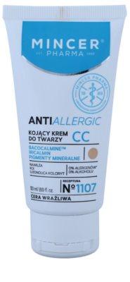 Mincer Pharma AntiAllergic N° 1100 crema CC pentru netezirea pielii