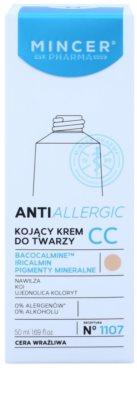 Mincer Pharma AntiAllergic N° 1100 crema CC para calmar la piel 2
