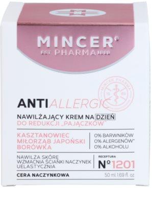 Mincer Pharma AntiAllergic N° 1200 krem nawilżający na dzień na rozszerzone i popękane naczynka 2