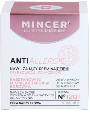 Mincer Pharma AntiAllergic N° 1200 crema de zi hidratanta impotriva rosetii si a vizibilitatii venelor 2