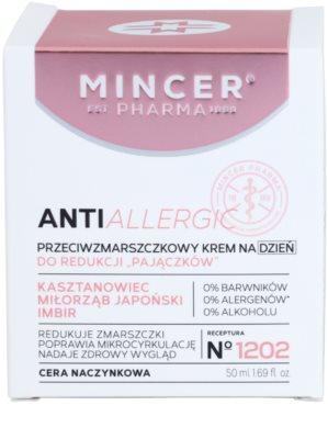Mincer Pharma AntiAllergic N° 1200 Anti-Faltencreme für empfindliche und gerötete Haut 2