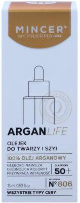 Mincer Pharma ArganLife N° 800 50+ ulei pentru fata fermitatea fetei si gatului 2