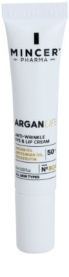 Mincer Pharma ArganLife N° 800 50+ crema antiarrugas contorno de ojos y labios