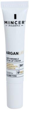 Mincer Pharma ArganLife N° 800 50+ creme antirrugas para o contorno dos olhos e lábios