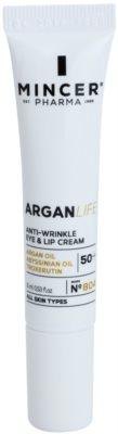 Mincer Pharma ArganLife N° 800 50+ крем проти зморшок для шкіри навколо очей та губ