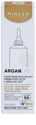 Mincer Pharma ArganLife N° 800 50+ protivráskový krém na okolí očí a rtů 2