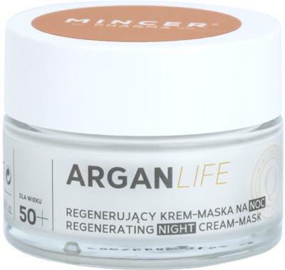 Mincer Pharma ArganLife N° 800 50+ crema-mascarilla regeneradora de noche