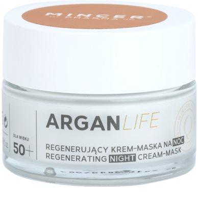 Mincer Pharma ArganLife N° 800 50+ regenerierende Nachtcreme-Maske