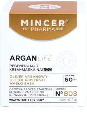 Mincer Pharma ArganLife N° 800 50+ regenerujący krem-maska na noc 2