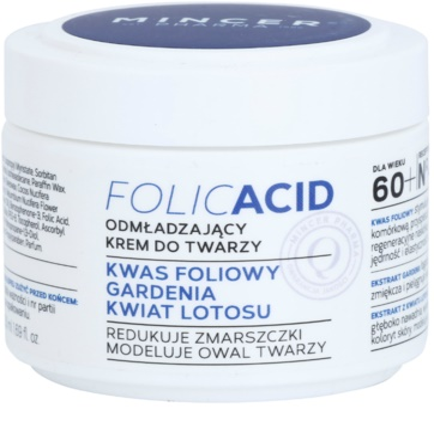 Mincer Pharma Folic Acid N° 450 crema pentru fata cu efect de intinerire 60+