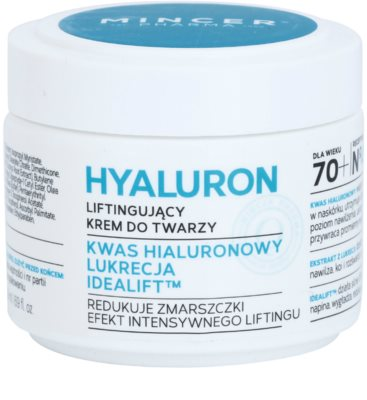 Mincer Pharma Hyaluron N° 400 Crema pentru fata cu efect de lifting 70+