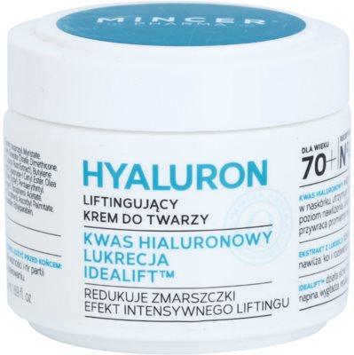 Mincer Pharma Hyaluron N° 400 creme lifting hidratante + 70