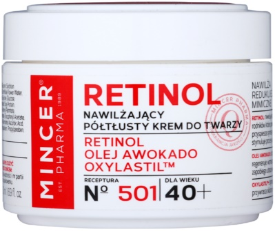 Mincer Pharma Retinol N° 500 hydratačný protivráskový krém 40+