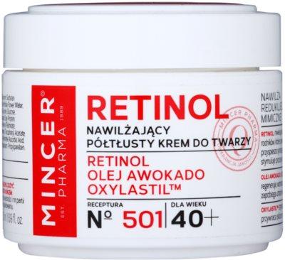 Mincer Pharma Retinol N° 500 nawilżający krem przeciwzmarszczkowy 40+