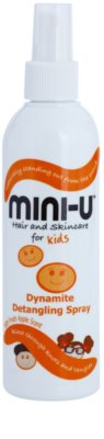 Mini-U Hair and Skincare spray para un cabello fácil de peinar para niños