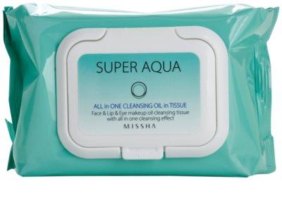 Missha Super Aqua All In One robčki za odstranjevanje ličil 2v1