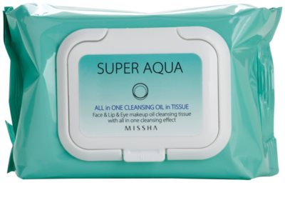 Missha Super Aqua All In One toalhitas desmaquilhantes 2 em 1