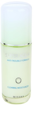Missha Super Aqua Anti-Trouble Formula emulsão hidratante para pele problemática