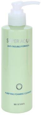 Missha Super Aqua Anti-Trouble Formula mousse de limpeza para pele problemática