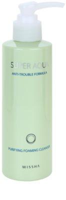 Missha Super Aqua Anti-Trouble Formula очищаюча пінка для проблемної шкіри