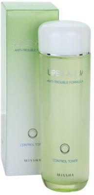 Missha Super Aqua Anti-Trouble Formula tonic pe curatare intensa pentru pielea problematica 1