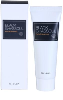 Missha Black Ghassoul очищаюча маска на ніс 1