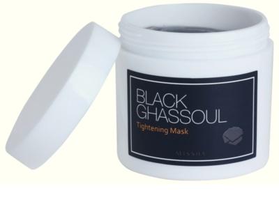 Missha Black Ghassoul tisztító maszk az aknés bőrre 1