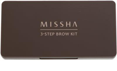 Missha 3 - Step Brow Kit набір для брів 1