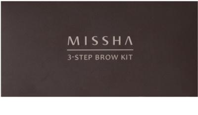 Missha 3 - Step Brow Kit kit para sobrancelhas 2