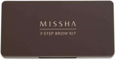 Missha 3 - Step Brow Kit kit para sobrancelhas 1