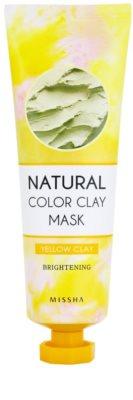 Missha Natural Color Clay masca din argila braziliana, cu un efect de strălucire