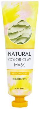 Missha Natural Color Clay maska s brazilským jílem s rozjasňujícím účinkem