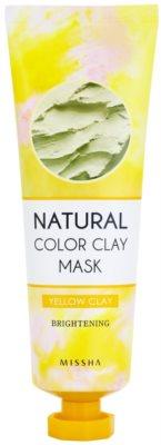 Missha Natural Color Clay posvetlitvena maska z brazilsko glino